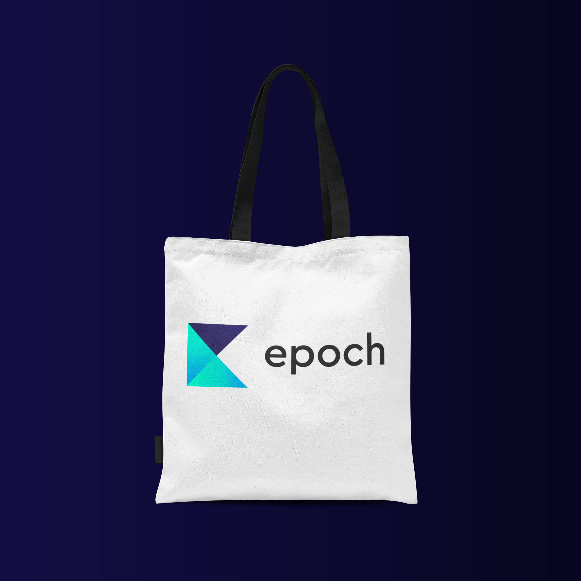 tote bag with epoch logo